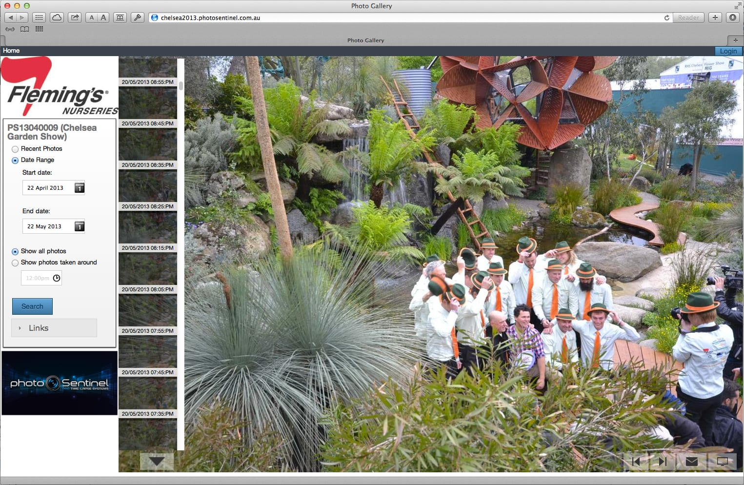 photoSentinel captures a well-timed photo of the winning gardeners celebrating!