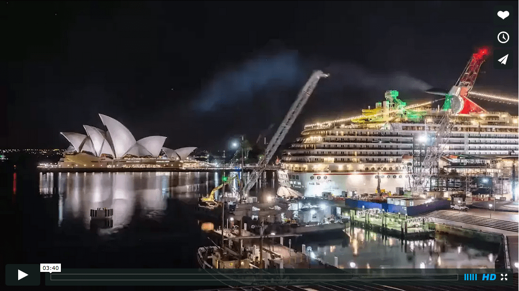 Sydney Opera House and Harbour Bridge in long term time-lapse