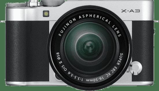 a Fujifilm X-A3 camera