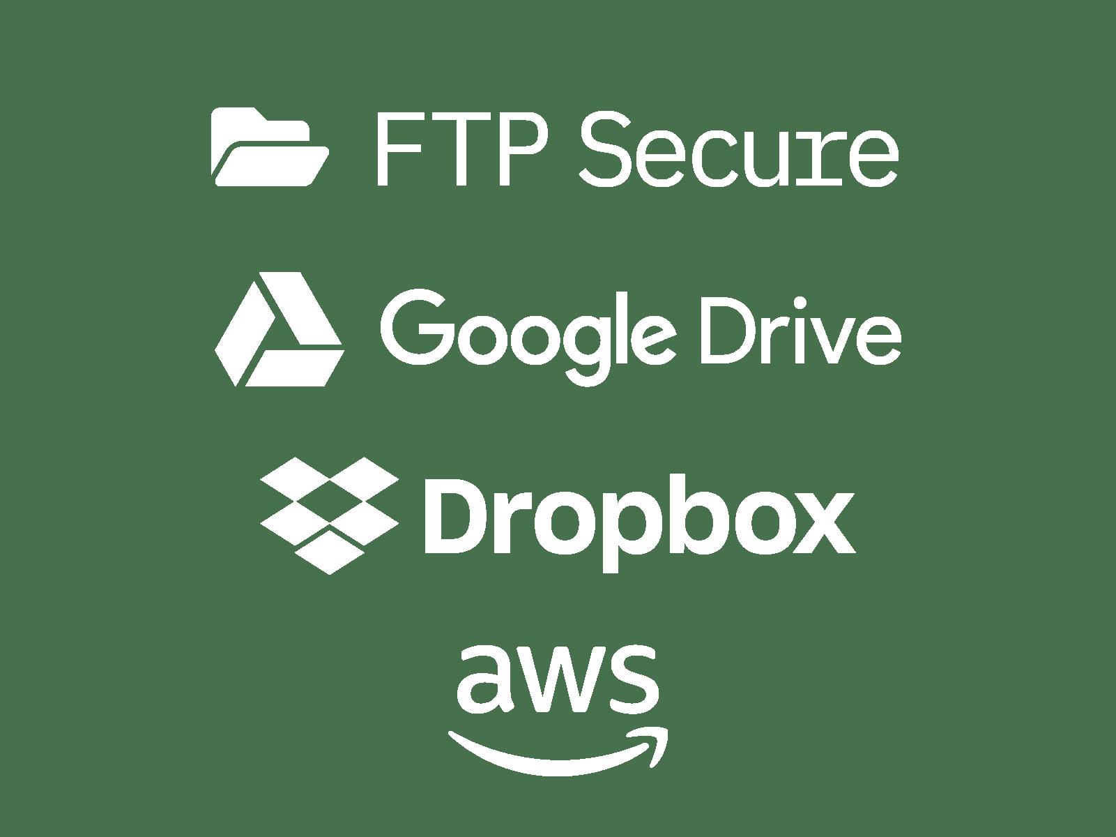 Word art of popular cloud storage providers; Dropbox, Google Drive, etc