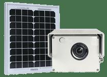 a photoSentinel Mini 'plug n' play' with solar panel