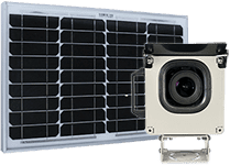 a photoSentinel Mach II standard package with solar panel