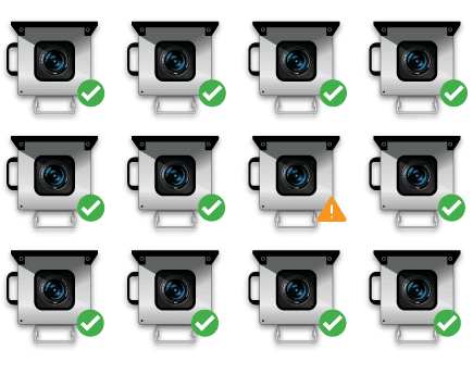 Clip art showing how you can manage multiple photoSentinel units with Control Hub
