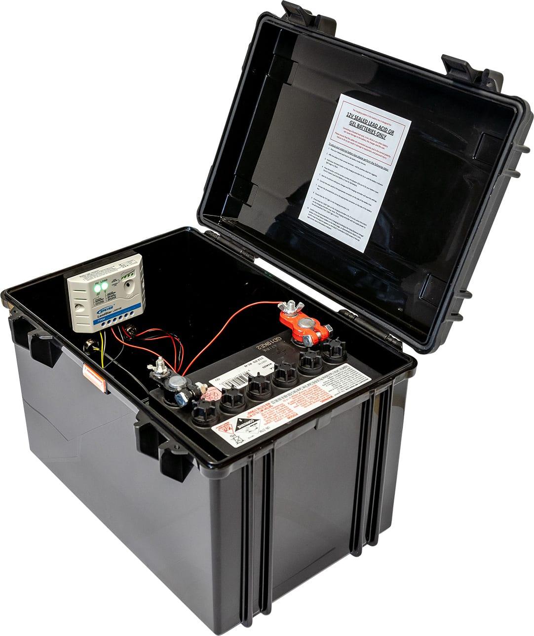 A photoSentinel external battery box