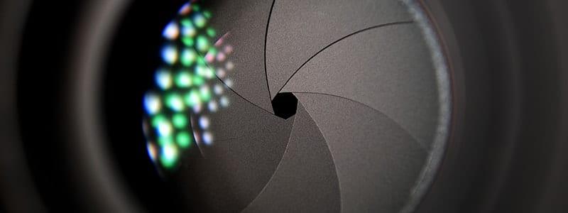Aperture blades inside cameras lens