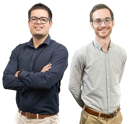 Two members of the photoSentinel team