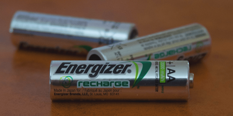 AA batteries scattered on a table
